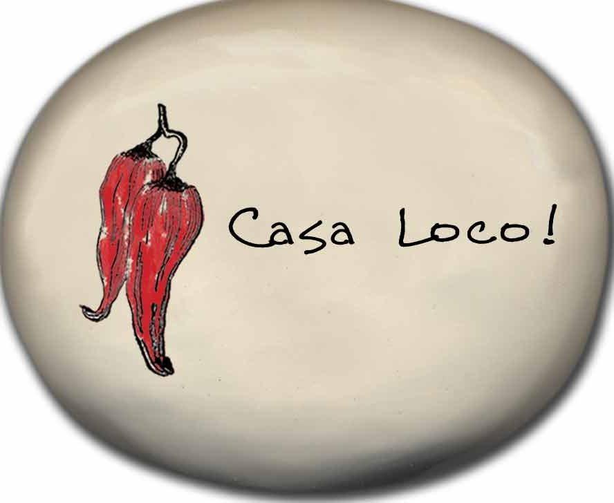 August Ceramics 8151E Chili Pepper - Casa Loco Mini Rock