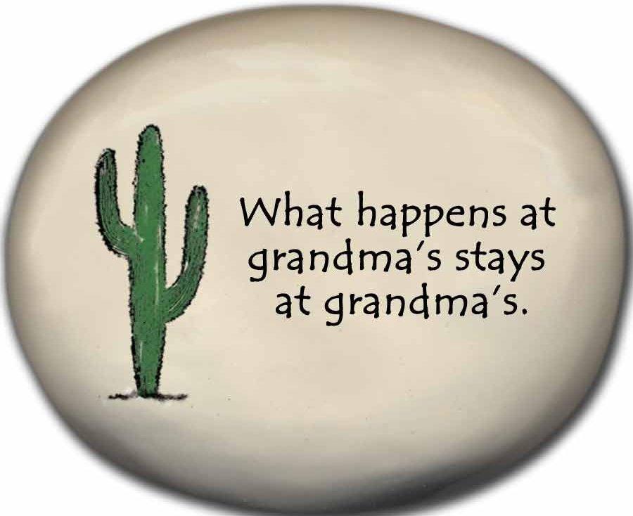 August Ceramics 8153C Cactus - What happens at Grandma's Mini Rock