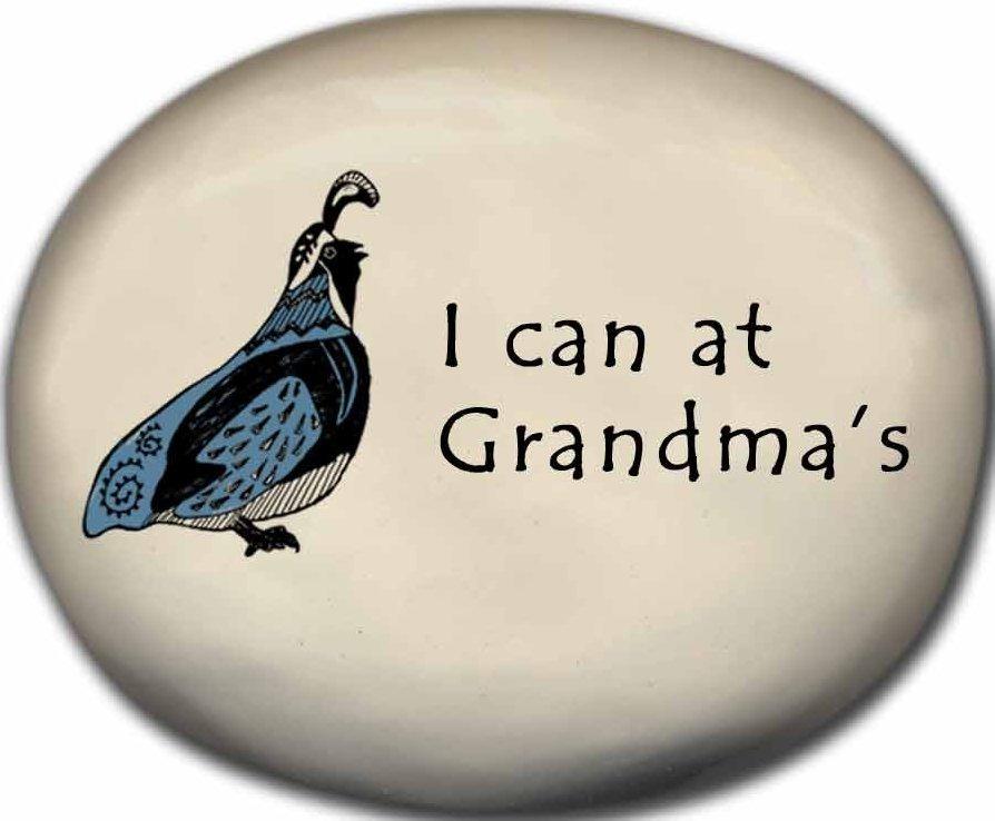 August Ceramics 8154B Quail - I can at Grandmas Mini Rock