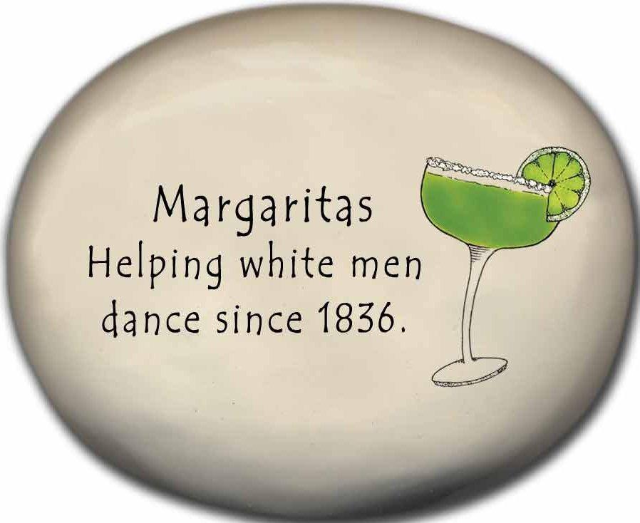 August Ceramics 8156E Margarita Glass - Margaritas Helping white men dance since Mini Rock