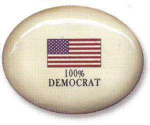 August Ceramics 8199DEM USA Flag Paperweight