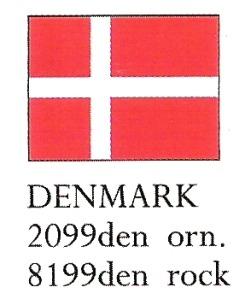 August Ceramics 8199DEN Denmark Flag Paperweight