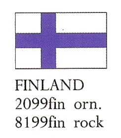 August Ceramics 8199FIN Finland Flag Paperweight