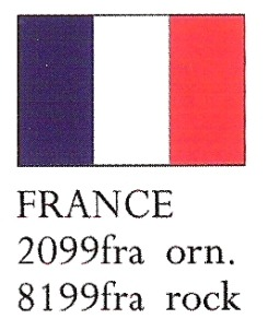August Ceramics 8199FRA France Flag Paperweight