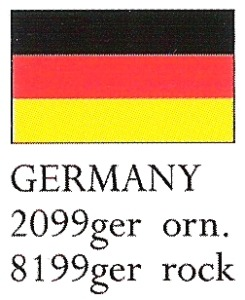 August Ceramics 8199GER Germany Flag Paperweight