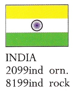 August Ceramics 8199IND India Flag Paperweight
