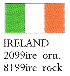 August Ceramics 8199IRE Ireland Flag Paperweight