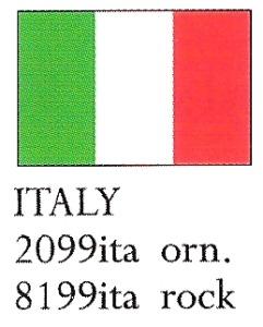 August Ceramics 8199ITA Italy Flag Paperweight