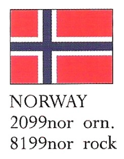 August Ceramics 8199NOR Norway Flag Paperweight