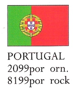 August Ceramics 8199POR Portugal Flag Paperweight