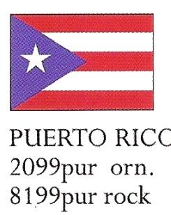 August Ceramics 8199PUR Puerto Rico Flag Paperweight
