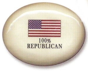 August Ceramics 8199REP USA Flag Paperweight