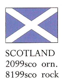 August Ceramics 8199SCO Scotland Flag Paperweight