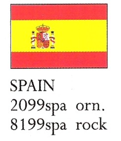 August Ceramics 8199SPA Spain Flag Paperweight