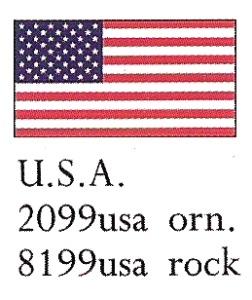 August Ceramics 8199USA USA Flag Paperweight