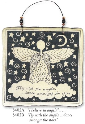 August Ceramics 8402A Verse - Click Photo Square Wall Plaque