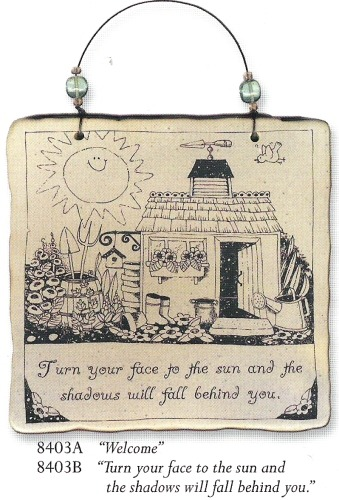 August Ceramics 8403A Verse - Click Photo Square Wall Plaque