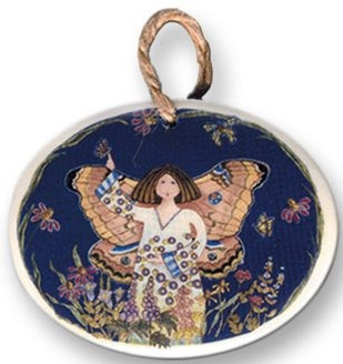 August Ceramics 9011 Butterfly Fairy Ornament