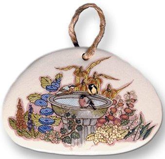 August Ceramics 9509 Birdbath Magnet
