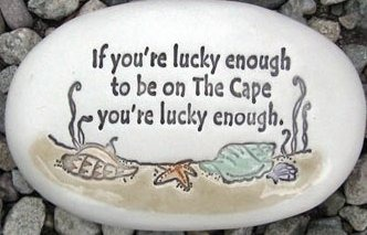 August Ceramics R138 If You're lucky enough to be at the Cape You're luck enough with artwork Rock