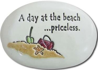 August Ceramics R146 A Day at the beach priceless Rock