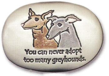 August Ceramics R253 Greyhound Verse - Click Photo Rock