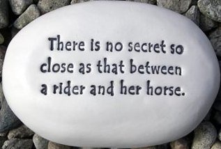 August Ceramics R280 There is no secret so close as that between a rider and her horse Rock