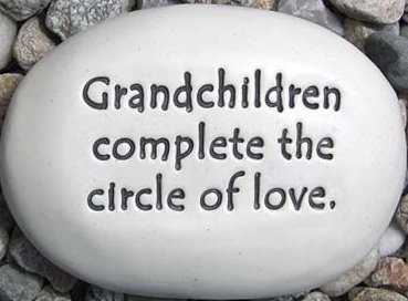 August Ceramics R342 Grandchildren complete the circle of love Rock