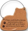 August Ceramics 2098T Cat If tears could build a stairway and memories a lane Ornament