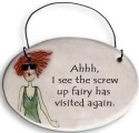 August Ceramics 2101B Verse - Click Photo Disk Hanger