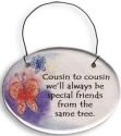 August Ceramics 2105F Verse - Click Photo Disk Hanger