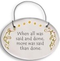 August Ceramics 2114A Verse - Click Photo Disk Hanger
