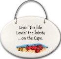 August Ceramics 2129D Lobster in Sea Livin' the life on the Cape Mini Disk