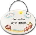 August Ceramics 2130E Beach fence Just another day in paradise Mini Disk