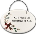 August Ceramics 2141F Christmas bow - All I want for Christmas is you Mini Disk