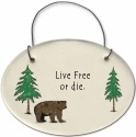 August Ceramics 2155B Bear - Live free or die Mini Disk