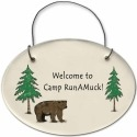 August Ceramics 2155D Bear - Welcome to Camp RunaMuck Mini Disk
