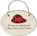 August Ceramics 2171B Fireman hat All men are created equal Mini Disk