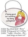 August Ceramics 3102B Verse - Click Photo Disk Magnet