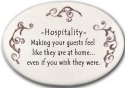August Ceramics 3116J Peach scroll Hospitality making guest Disk Magnet