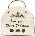 August Ceramics 4082M Irish you a merry Christmas Plaque