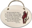 August Ceramics 4150A Cardinal The best remedy Oval Plaque