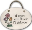 August Ceramics 4170A 3 flowers If sisters were flowers Oval Plaque