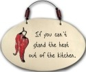 August Ceramics 4551C If you Can't stand the heat Beaded Plaque