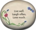 August Ceramics 8104D Verse - Click Photo Paperweight