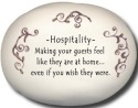 August Ceramics 8116J Peach scroll Hospitallity making guests Mini Rock