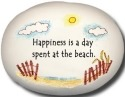 August Ceramics 8130C Happiness is A Day spent at the beach Mini Rock