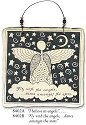 August Ceramics 8402B Verse - Click Photo Square Wall Plaque