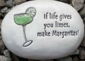August Ceramics R317 If life gives you limes with plain margarita Rock