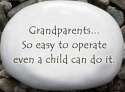 August Ceramics R341 Grandparents so easy to operate Rock